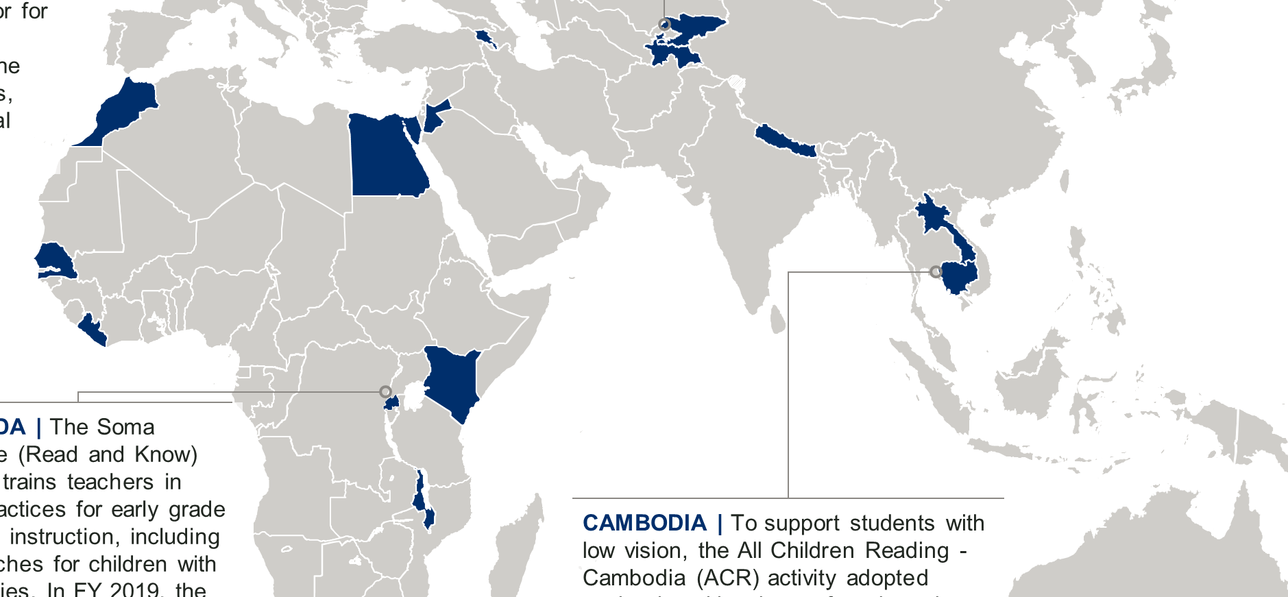 A map from the disability inclusive education brief.