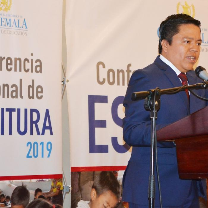 Photo: Héctor Canto, the Honorable Vice Minister for Education in Guatemala, Opens the 2019 National Writing Conference