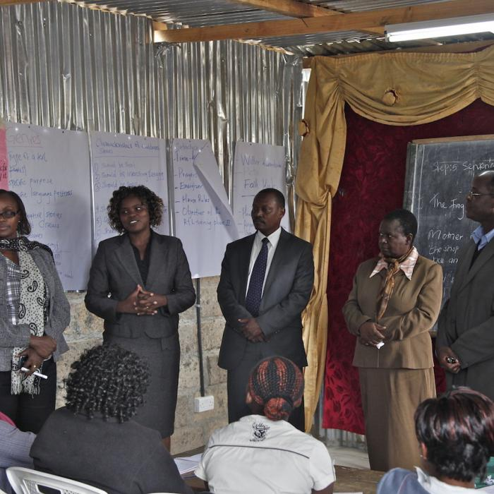 Officials from the Ministry of Education and Aga Khan Foundation conducted a joint field visit to a teachers training facility in Mukuru Kware area.