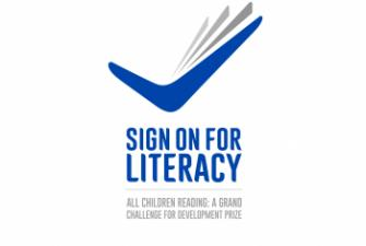 Sign On for Literacy Competition Logo