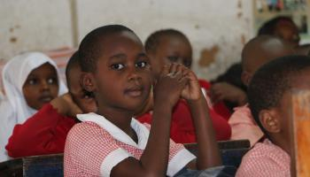 Class two pupil at Ganjoni Primary School.
